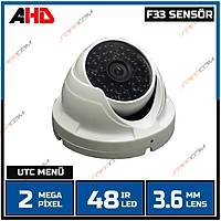 Safecam PM-8916 2 MP 48  Led 3.6 MM Lens AHD UTC Menü  Beyaz Metal Dome Kamera -1704s