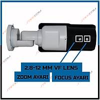 Safecam PM-9018 2 MP F33 42 LED 2.8-12MM VF AYARLABÝLÝR LENS AHD KAMERA-1686s