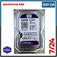 """500 GB Western Digital Purple 7/24  Sata3 3,5"""" HDD - Harddisk (6 Ay garantili) - 1848"""