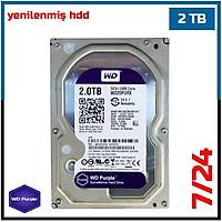 "2 TB Western Digital Purple 7/24  Sata3 3,5"" HDD - Harddisk - 1725"
