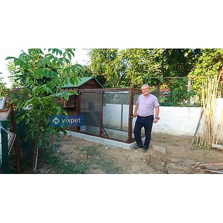 Kelebek Bahçeli Tavuk Kümesi 12 Tavuk Barýnabilir + Bahçe Seçenekli
