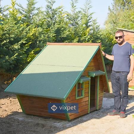 Martin Pencereli ve Sundurmalý Köpek Kulübesi 200x100x130