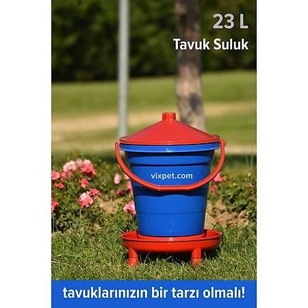 Þamandýralý Ayaklý Tavuk Suluk 23 lt - Üst Kapaktan Kolay Dolum