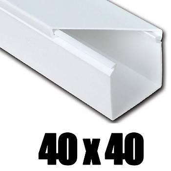40x40 Kablo Kanalý Yapýþkanlý