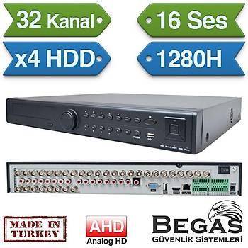 BEGAS 3264 32 Kanal AHD Kayýt Cihazý (4 HDD)