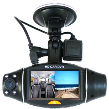 MK-300 Çift Kameralý GPS Özellikli Araç Kayýt Cihazý