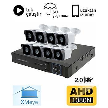 BegasPro 1036 8 Kameralý 2.0mp AHD Güvenlik Sistemi Paketi - P215