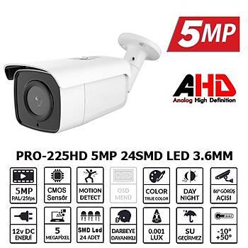 BegasPro BL-5225HD 5MP 3.6MM 24 SM LED 5MD AHD Kamera