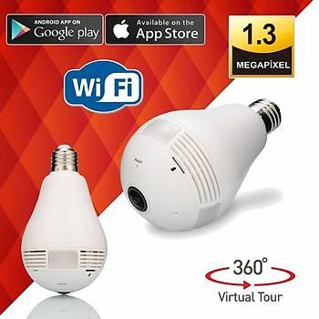 BEGAS BF 360 Derece Panaromik Ampül Tipi Wi-Fi (Kablosuz) Ip Kamera