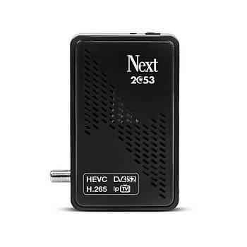 Next 2053 H.265 HEVC IPTV Özellikli Çanaklý Çanaksýz MPEG4 HD Uydu Alýcýsý