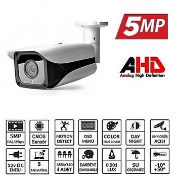 BegasPro OX-5550HD 5MP 3.6MM 4 Atom LED 5MD AHD Kamera