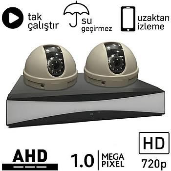 BEGAS 5010 AHD 2 Kameralý 1.0mp Paket - P171