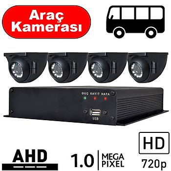 BEGAS 4 Araç Kameralý AHD Paket 1.0mp - A100
