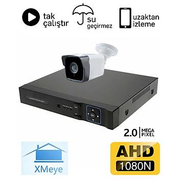 BegasPro 1036 1 Kameralý 2.0mp AHD Güvenlik Sistemi Paketi - P209