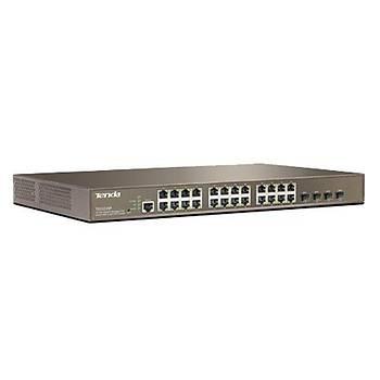 Tenda TEG3224P 24 Port PoE Gigabit 4xSFP Yönetilebilir Switch
