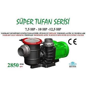 Nozbart Süper Tufan Serisi 7,5 HP Trifaze  Havuz Pompasý