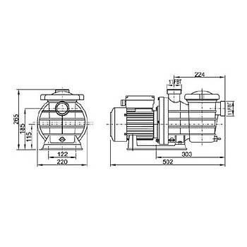Superpool Havuz Pompasý SMP Serisi 1.5 HP - Trifaze
