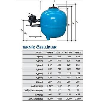 Gemaþ Filtron Plastik Kum Filtresi 760 mm