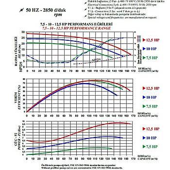 Nozbart  Süper Tufan Serisi 10 HP  Trifaze Havuz Pompasý