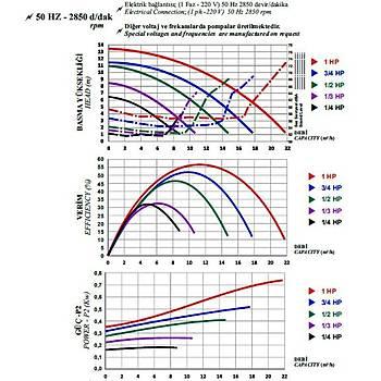 Nozbart 1/4 HP Hamsi Monofaze Pompa