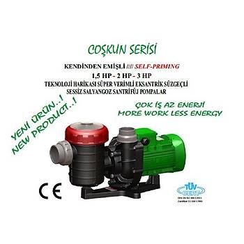 Nozbart Coþkun Serisi 3 HP Trifaze Havuz Pompasý