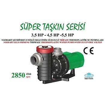 Nozbart Süper Taþkýn Serisi 4,5 HP Trifaze Havuz Pompasý