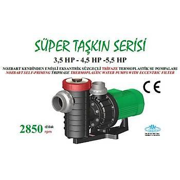Nozbart Süper Taþkýn Serisi 5,5 HP Trifaze Havuz Pompasý