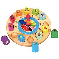Ahþap Geometrik Saat Puzzle