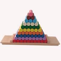 Onluk Sistemde Renkli Silindir Pramidi