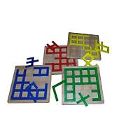 Simetri Puzzle' lar ( Mavi+Sarı+Kırmızı+Yeşil)