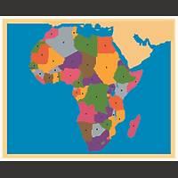 Coğrafi Materyaller - Afrika Haritası