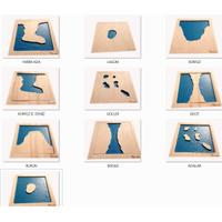 Coðrafi Materyaller - Karalar ve Denizler Set ( Standlý )