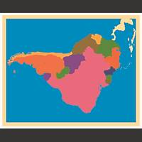 Coğrafi Materyaller - Güney Amerika Haritası