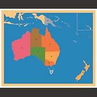 Coğrafi Materyaller - Avustralya Haritası