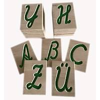 Kanallı Harfler - El Yazısı Büyük Harfler