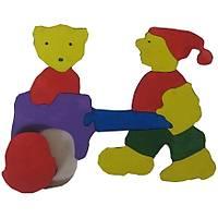Parça Boyalı Puzzle' lar (Arabalı Çocuk)