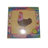 Değişim ve Dönüşüm ( Tavuk ) 4 katlı Puzzle