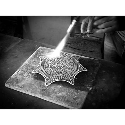 Midyat El İşçiliği Telkari Gümüş Tepsi