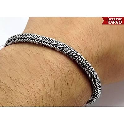Sarmal Model 925 Ayar Erkek Gümüþ Bileklik (STOK KODU: 20137698)