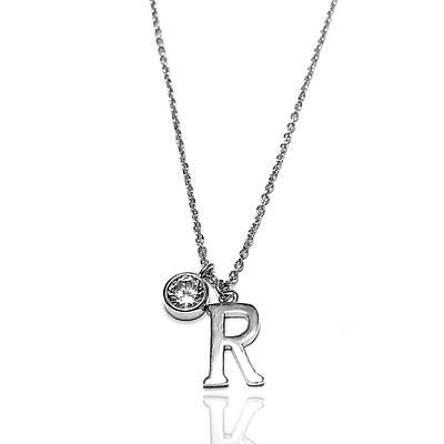 R harfli Gümüþ Bayan Kolye (Kod: 2020824)