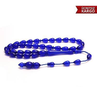 Mavi Renkte Damla Model Toz Kehribar Tespih (STOK KODU: 20137253)