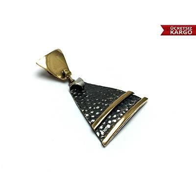 925 Ayar Gümüþ Üçgen Model Bayan Otantik Üçlü Set,(STOK KODU: 20171890)