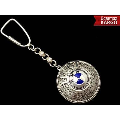 BMW amblemli 925 ayar gümüþ anahtarlýk (STOK KODU:20137686)