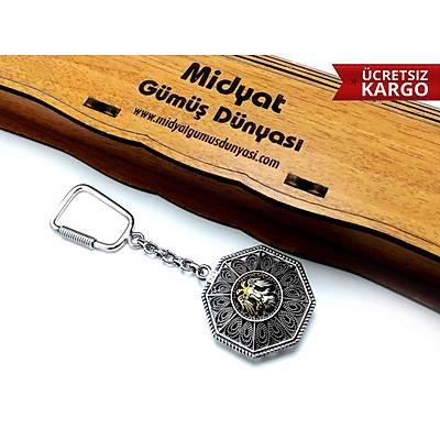 Selçuklu Kartalý Amblemi Telkari Anahtarlýk, (STOK KODU:20173649)