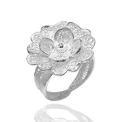 Çiçek Model Telkari Gümüþ Bayan Yüzük (kod 2020421A)