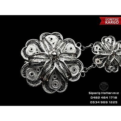 Telkari El İşçiliği 925 Ayar Gümüş Kemer