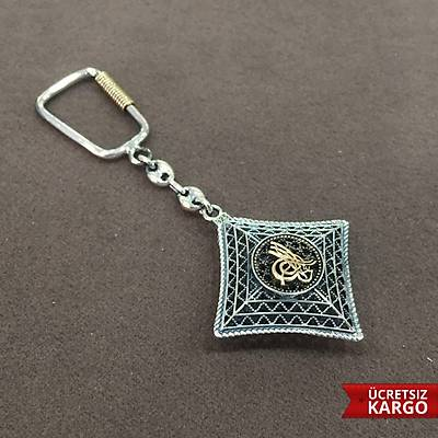 Osmanlý Tuðralý Model El Ýþçiliði 925 Ayar Gümüþ Anahtarlýk (STOK KODU: 20137092)