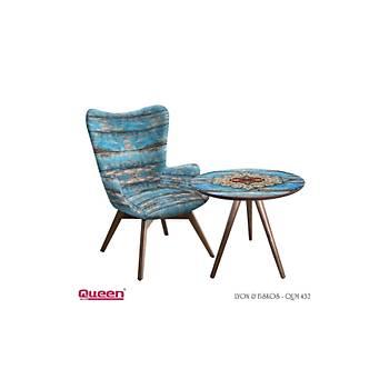 Queen LYON QUM-432 Berjer + Fiskos Set