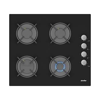 Simfer Elektro Fýrýn Siyah Cam Ankastre Set (7337 Fýrýn + 3500 Ocak + 8658 Davlumbaz)