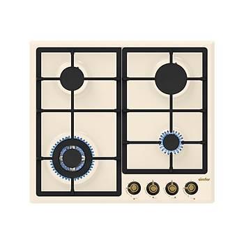 Simfer Defne Rustik Bej Ankastre Set (7318 Fýrýn + 3322 Ocak + 8665 Davlumbaz)